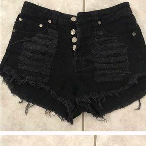 Minkpink Black Slasher Shorts XS